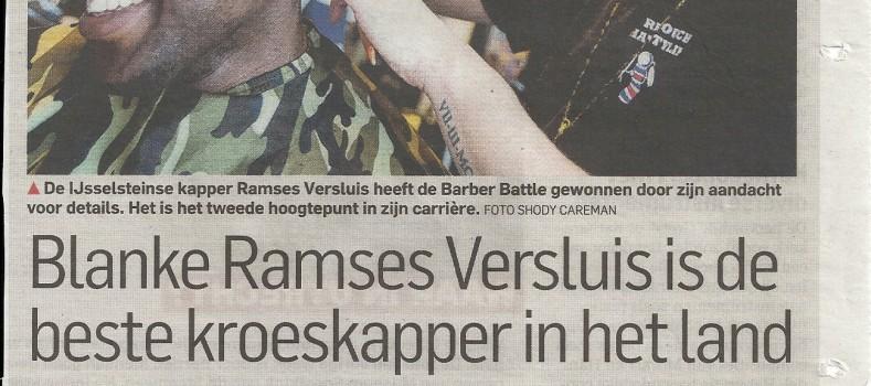 Krantenartikel Blanke Ramses Versluis